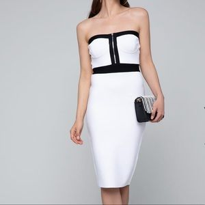 NWT Sexy Bebe body con strapless dress